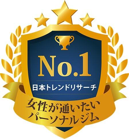 No.1 日本トレンドリサーチ 女性が通いたい パーソナルジム ※実施委託先:日本トレンドリサーチ 2020年3月実施:サイトのイメージ調査